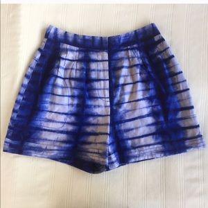 Tory Burch Isadora Blue White Tie-Dye Shorts 4
